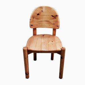 Stuhl aus Massivholz von Rainer Daumiller, 1960er