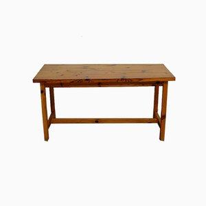 Mesa o escritorio francés de pino macizo, años 70