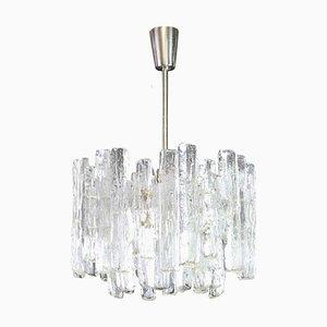 Large Austrian Murano Ice Glass Chandelier from Kalmar Franken KG, 1970s