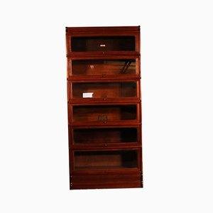 Antique 6-Piece Mahogany Bookcase from Globe Wernicke, Late 1800s