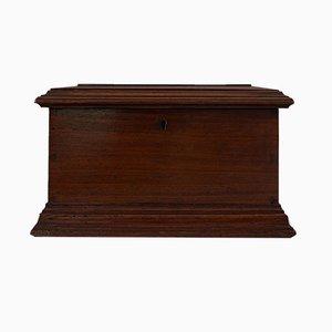 Small Victorian English Walnut Document Box