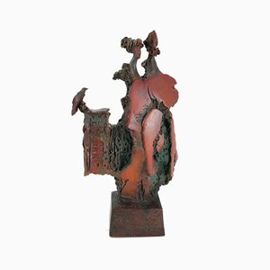 Angelo Minuti, Together Sculpture, Painted Terracotta
