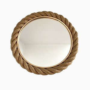 French Rope Mirror by Adrien Audoux & Frida Minet, 1950s
