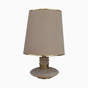 Lampada da tavolo in marmo, ottone e plastica, anni '60