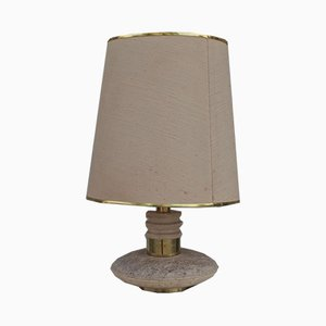 Marmor, Messing und Kunststoff Tischlampe, 1960er