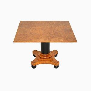 Table Basse Antique Biedermeier en Ebène et Bouleau, Suède