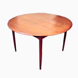 Danish Oval Extendable Dining Table, 1960s