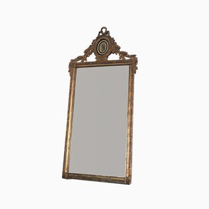 19th-Century Louis XVI Dutch Giltwood Rectangular Mirror