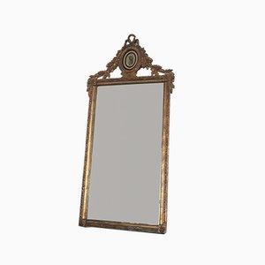 Specchio rettangolare Luigi XVI in legno dorato, Olanda, XIX secolo