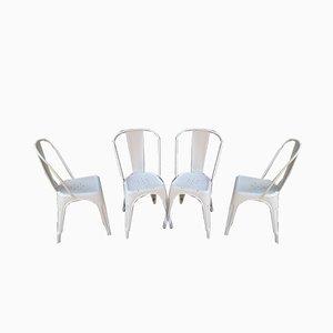 Esszimmerstühle von Tolix, 1950er, 4er Set
