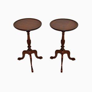 Vintage Georgian Style Wine Tables, Set of 2