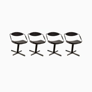 Model Unesco Dining Chairs by Steiner Gilbert for Steiner, 1962, Set of 4