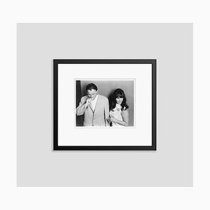 Richard Burton & Elizabeth Taylor Arriving for Makeup Archival Pigment Print Framed in Black by Everett Collection