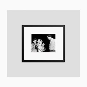 James Dean, Elizabeth Taylor & Rock Hudson Archival Pigment Print Framed in Black by Everett Collection