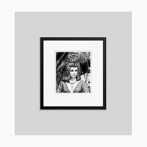 Taylor As Cleopatra Archival Pigment Print Framed in Black by Everett Collection
