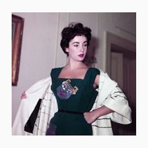 Elizabeth Taylor in Rome Framed in Black by Bettmann
