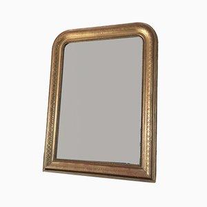 Specchio Luigi Filippo antico in legno dorato, XIX secolo