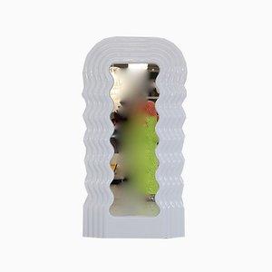 Specchio grande al neon con luce di Ettore Sottsass