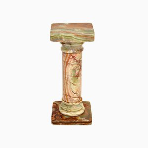Neo-Classical Style Onyx Pedestal Column, 1950s
