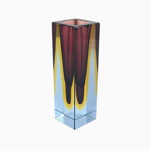 Sommerso Murano Glass Vase by Flavio Poli for Alessandro Mandruzzato, 1960s