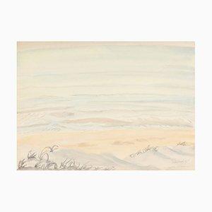 Erich Heckel, Bright Sea 1961, Aquarell