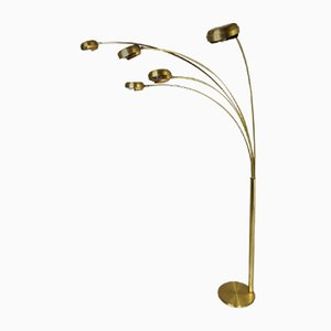 Brass 5-Light Floor Lamp with Adjustable Rods, 1970s