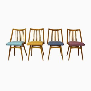 Oak Dining Chairs from Interier Praha, 1960s, Set of 4