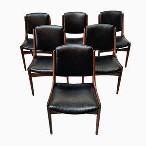 Teak Esszimmerstühle von Louis van Teeffelen für WéBé, 1950er, 6er Set