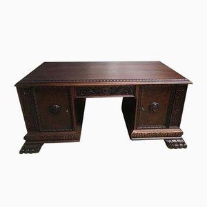 Großer Antiker Schreibtisch, 1940er