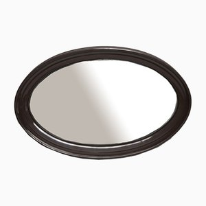 Ovaler brauner Spiegel, 1970er