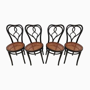 Esszimmerstühle aus Schilfrohr von Michael Thonet für Thonet, 1920er, Set of 4