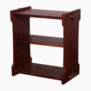 Mueble de almacenamiento vintage pequeño de madera, años 50
