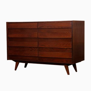 Dark Oak U-453 Chest of Drawers by Jiří Jiroutek for Interier Praha, 1960s