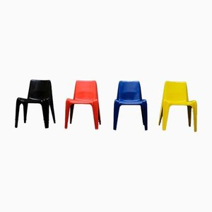 Fiberglas BA 1171 Stühle von Helmut Bätzner für Bofinger, 1960er, 4er Set