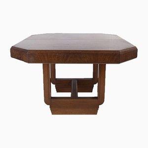 Art Deco Extendable Mahogany Dining Table, 1920s