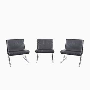 Berlin Chair Lounge Chairs by Meinhard von Gerkan for Walter Knoll / Wilhelm Knoll, 1970s, Set of 3