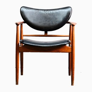 Mid-Century NV 48 Desk Chair by Finn Juhl for Niels Vodder