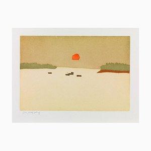 Alex Katz, Sunset Cove, 2008, Color Aguatinta