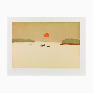 Alex Katz, Sunset Cove, 2008, Color Aquatint