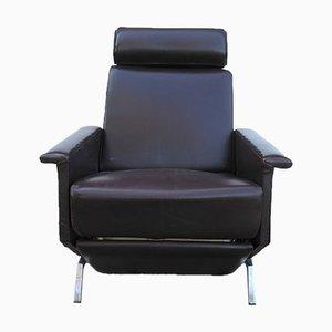 Brauner Kunstleder Sessel von Georges Van Rijck für Beaufort, 1960er