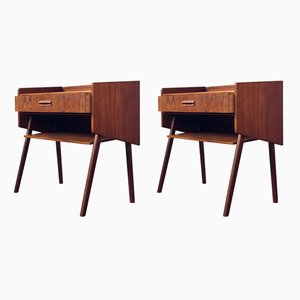 Mid-Century Nightstands from Ølholm Møbelfabrik , Set of 2