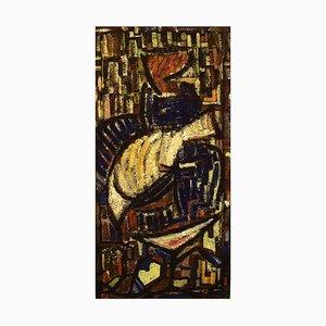 Oil on Board, Modernist Composition, 1960s