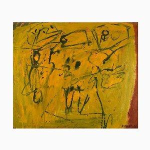 Bengt Delefors, Moderne Komposition, 1960er, Öl auf Leinwand