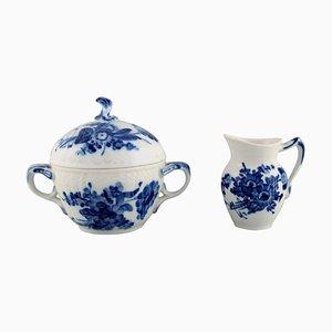 Geschwungene Royal Copenhagen Zuckerwatte und Porzellanschale, 2er Set