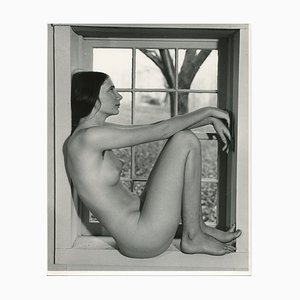 Martin Miller, Desnudo en la ventana, años 70, Gelatina de plata