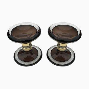 Round Murano Glass Double Door Handles, Set of 2