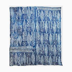 Large Ndop Indigo Textile