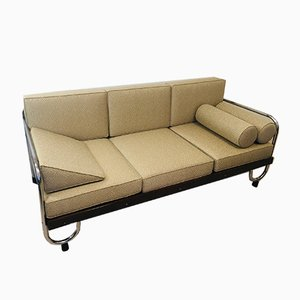 Beige Bauhaus Tubular Steel Sofa for Robert Slezak, 1930s