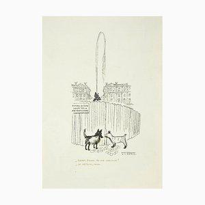 Alberto Mastroianni - Rome - Piazza Esedra - Original Lithograph - 1970s