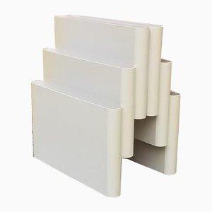 Revistero en blanco roto con 6 compartimentos de Giotto Stoppino para Kartell